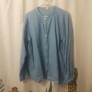 Eileen Fisher button down blouse. Size 1x.